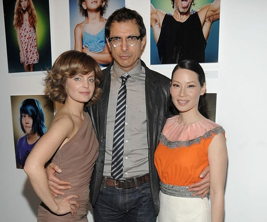 "Photo of Mena Suvari, Lucy Liu and Jeff Goldblum at the opening Night of ""American Character: A Photographic Journey"""