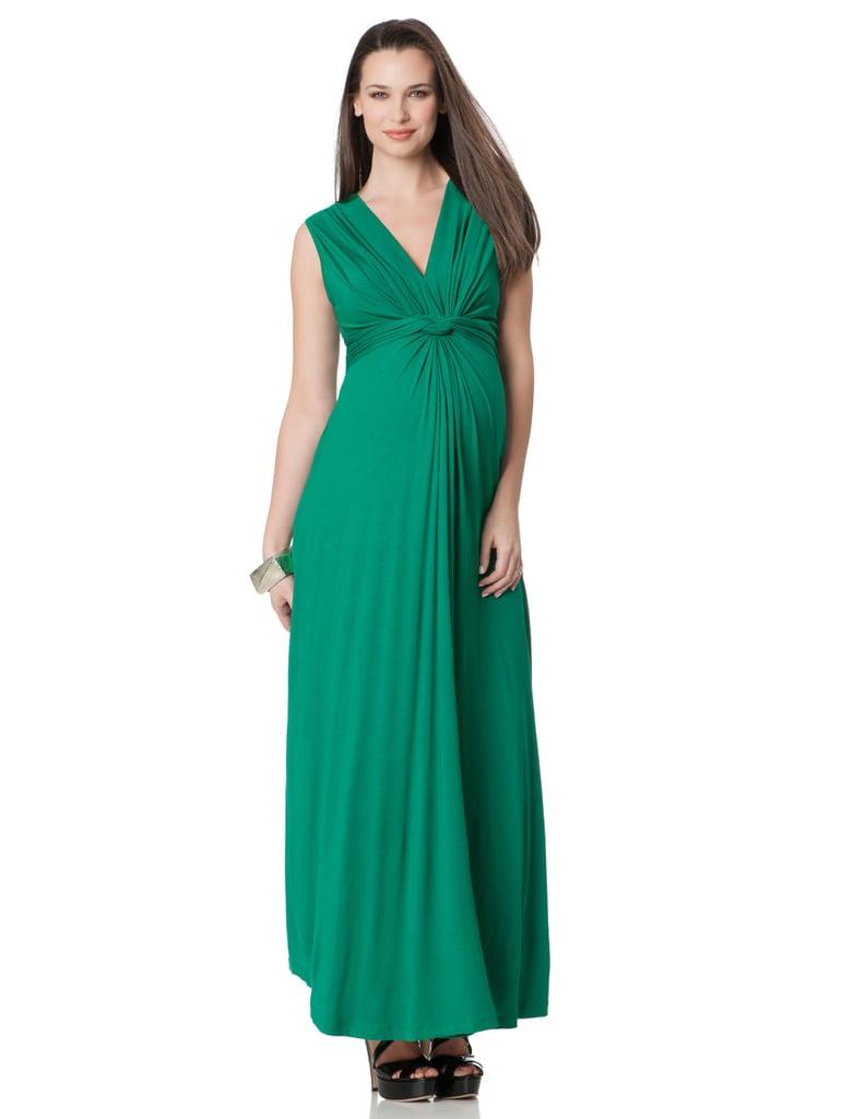 Séraphine Sleeveless Knot Front Maternity Maxi Dress ($102)