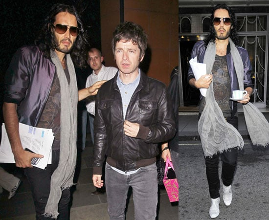 Pictures of Russell Brand and Noel Gallagher Out in London Together