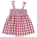 3 Pommes Smocked Top With Checks ($25)
