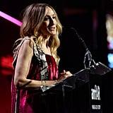 Sarah Jessica Parker spoke on stage.
