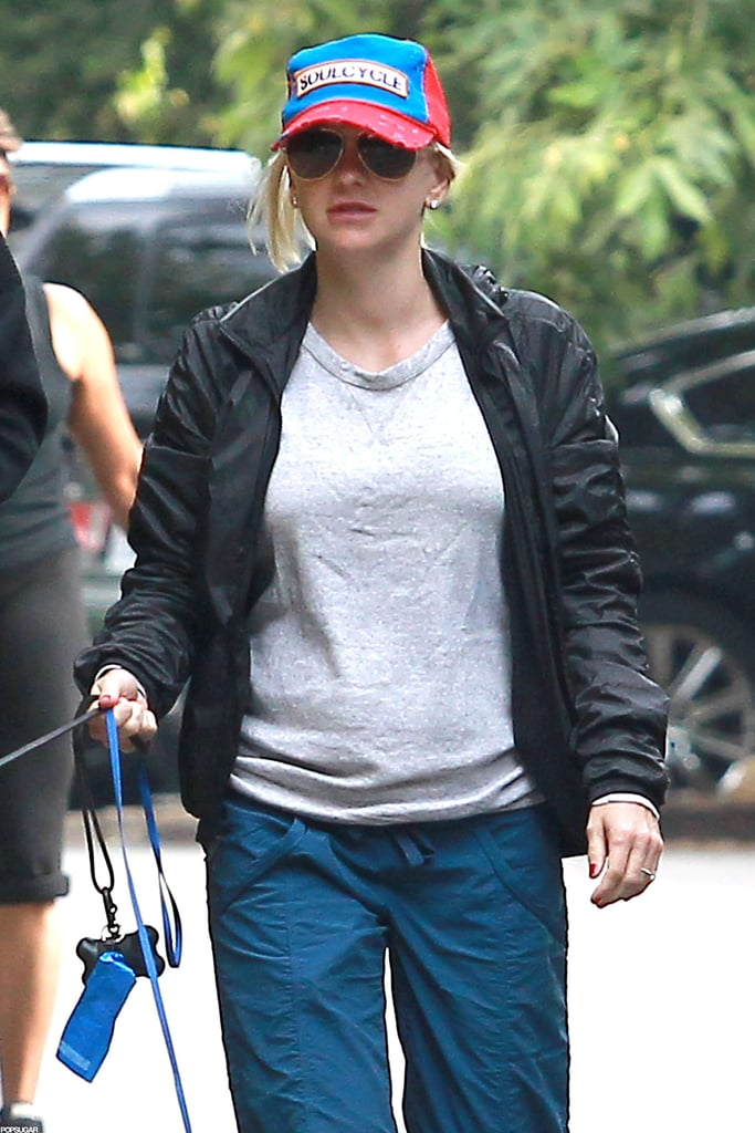 Anna Faris kept it casual on an early morning walk in LA.