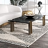 nuLOOM Sophie Striped Diamond Tassel Area Rug