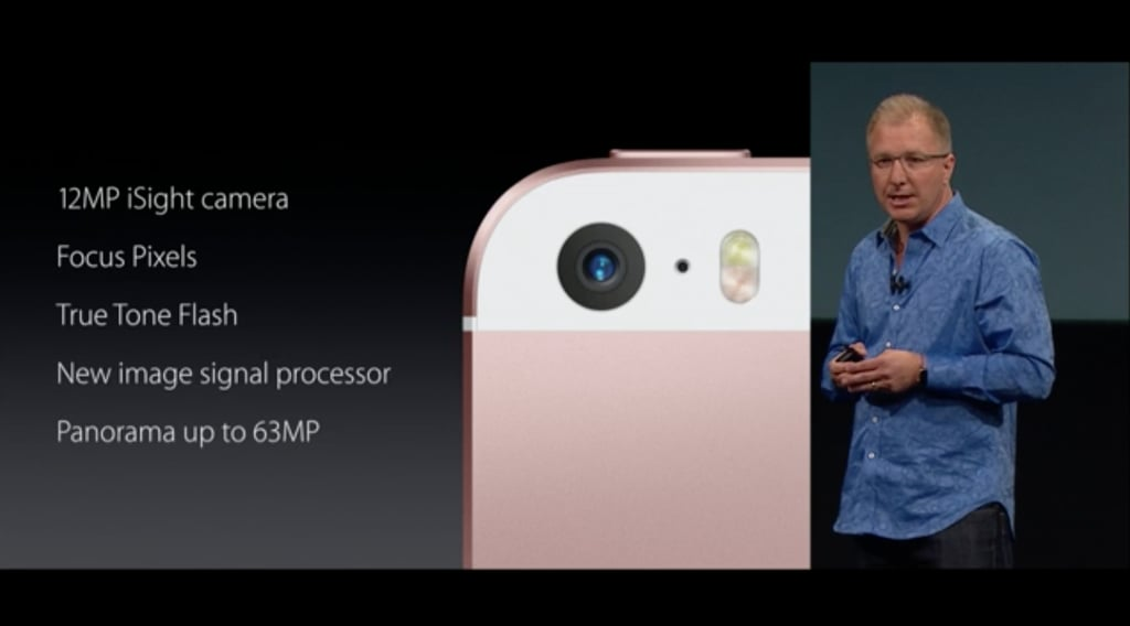 Here are some of the details on the iPhone SE's camera.