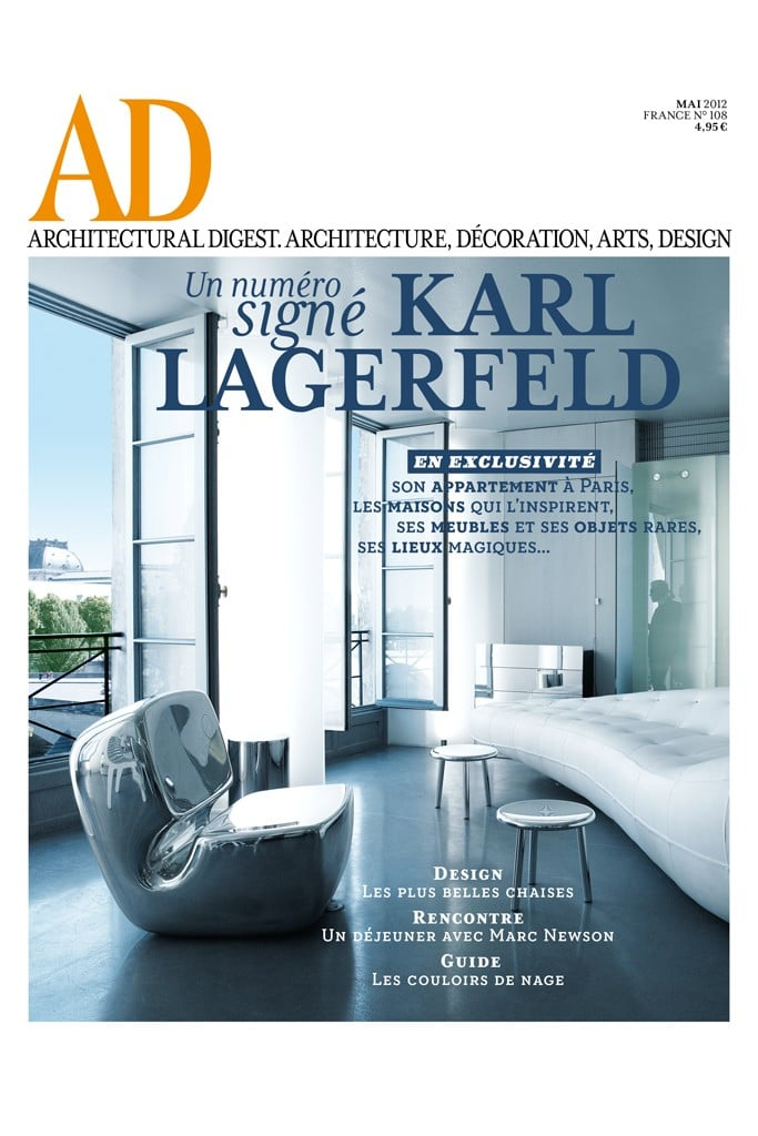 Karl Lagerfeld For French Architectural Digest