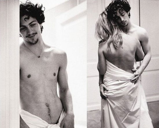 Naked Aaron Johnson and Sam Taylor-Wood