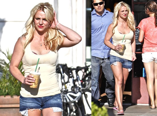 Pictures of Britney Spears at Starbucks in LA