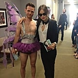 Olivia Wilde clowned around on the set of Chelsea Lately. Source: Twitter user oliviawilde