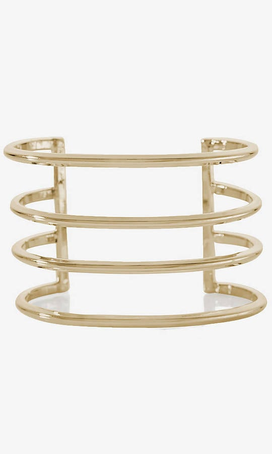 Express Cut-Out Metal Cuff Bracelet ($25)