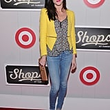 Hilary Rhoda posed at The Shops at Target launch party in NYC.