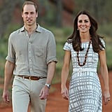 The royals looked picture perfect when they stopped by the National Indigenous Training Academy in Ayers Rock, Australia.