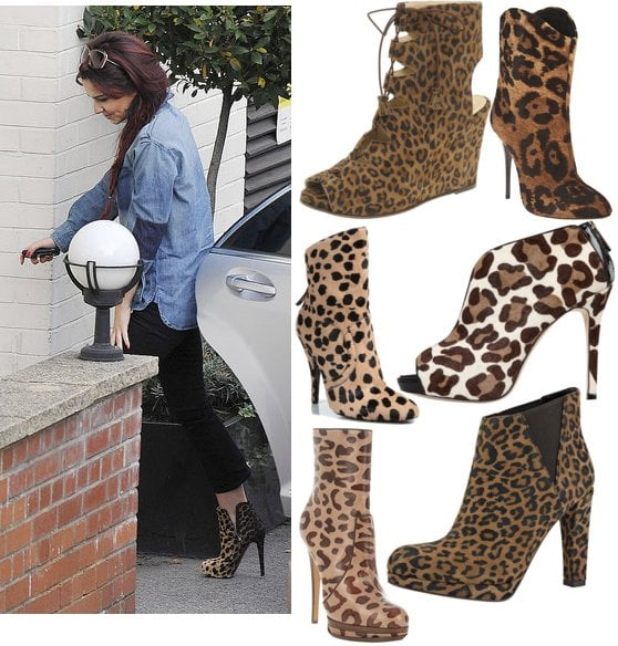Photos of Cheryl Cole in Leopard Print Ankle Boots