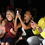 Melissa Joan Hart and La La and Carmelo Anthony