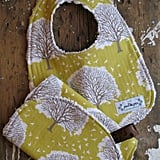 Majestic Oak Tree Baby Bib and Burp Set by The Posh Pea Boutique