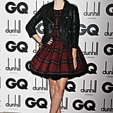 Emma Watson in Tartan McQ by Alexander McQueen at 2011 GQ Men of the Year Awards