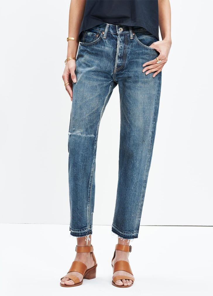 Madewell Chimala Ankle Jeans With Rip and Repair ($570)