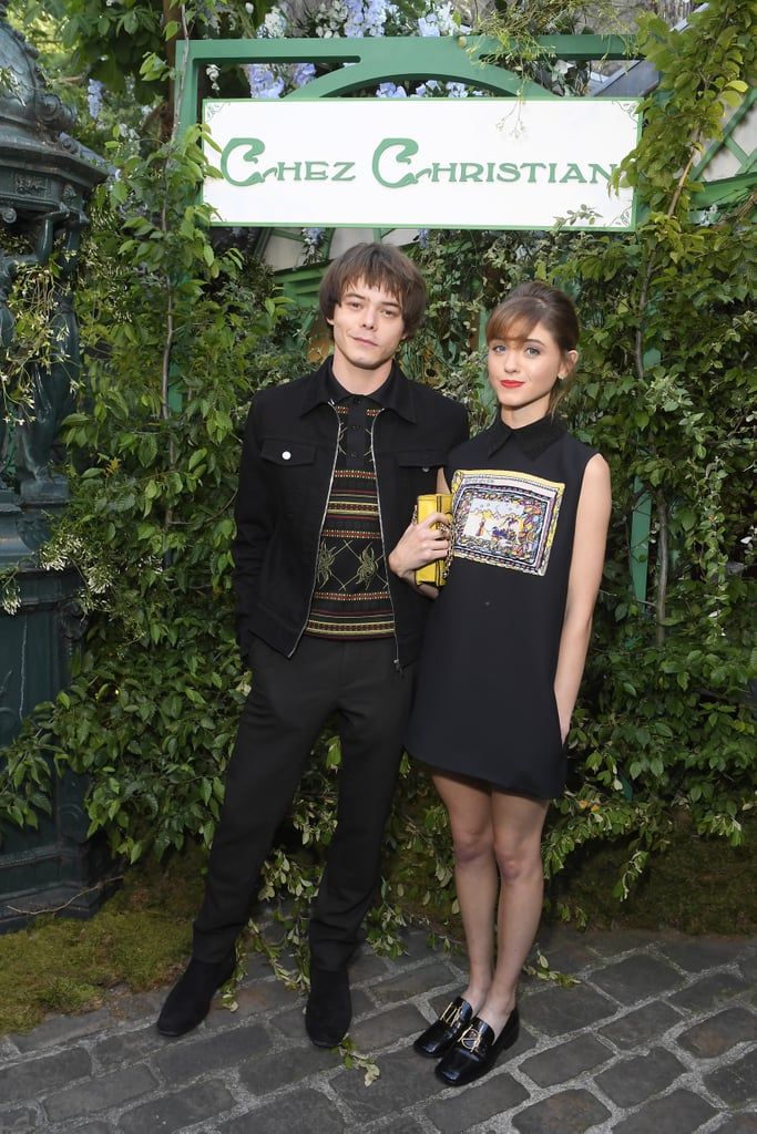 Natalia Dyer and Charlie Heaton stepped out in style for the Dior fashion show in Paris on Thursday night. The Stranger Things couple — who've been going strong since January 2017 — coordinated their outfits for the fashion-forward event and flashed sweet smiles as they posed for photos.  Even though Stranger Things doesn't return until October, we've been getting hints left and right about what we can expect to see in season three. Most recently, Netflix added two new roles to the show, casting Cary Elwes as Mayor Kleine and Jake Busey as Bruce. As we await more details on the upcoming season, bask in the cuteness of Natalia and Charlie's real-life romance.