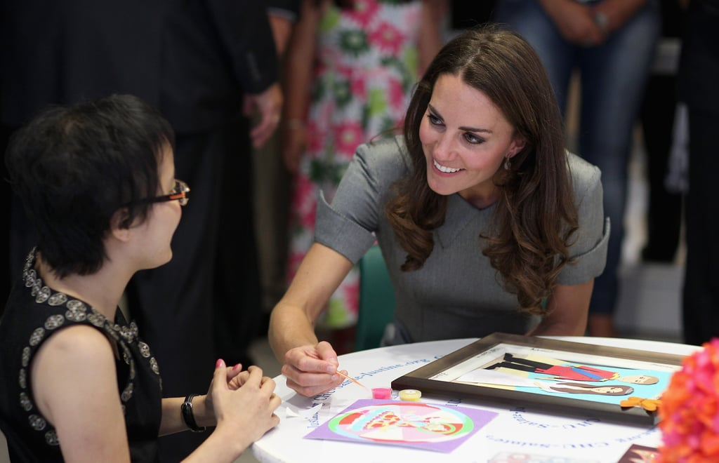 Kate Middleton shared a warm smile with a patient at a Montreal hospital.