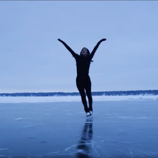 Watch Michelle Kwan Skate Effortlessly Across a Frozen Lake