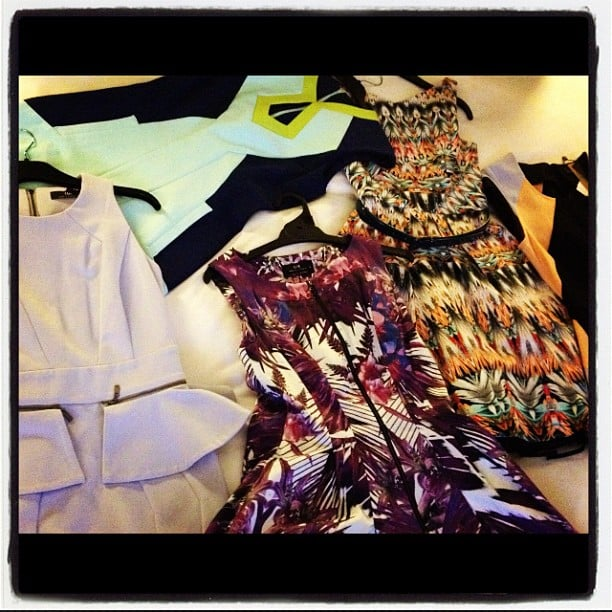 Jennifer Hawkins asked her Instagram followers to help her pick a dress. . . Source: Instagram user jenhawkins_