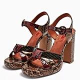 Topshop Ripple Snake Print Platform Shoes