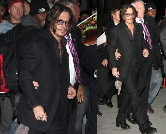 Photos of Johnny Depp Leaving the MoMA in NYC