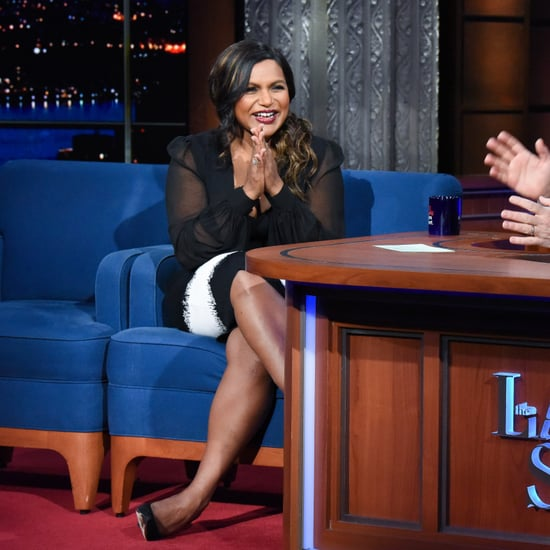 Mindy Kaling Talking Oprah Baby Gift on Stephen Colbert