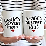 World's Okayest Dad and World's Okayest Mom Mug Gift Set