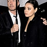 Mila Breaks From Work For a Roman Date Night With Ashton