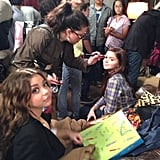 Sarah Hyland and Ariel Winter prepared for a take. Source: Sofia Vergara on WhoSay