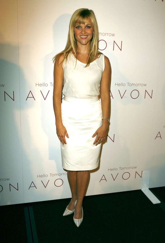 Reese Witherspoon in White Dress at 2007 Avon Global Ambassador Event