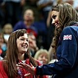 Kate popped on her Team GB jumper for the gymnastics.