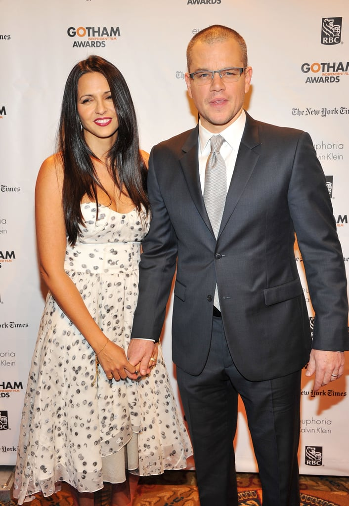 Matt Damon wore a suit to the awards in NYC.