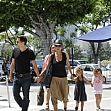 Halle Berry and Olivier Martinez ventured out in LA with Nahla Aubry.