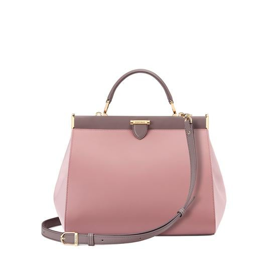 The Dockery Snap Bag Small in Smooth Soft Taupe ($870)