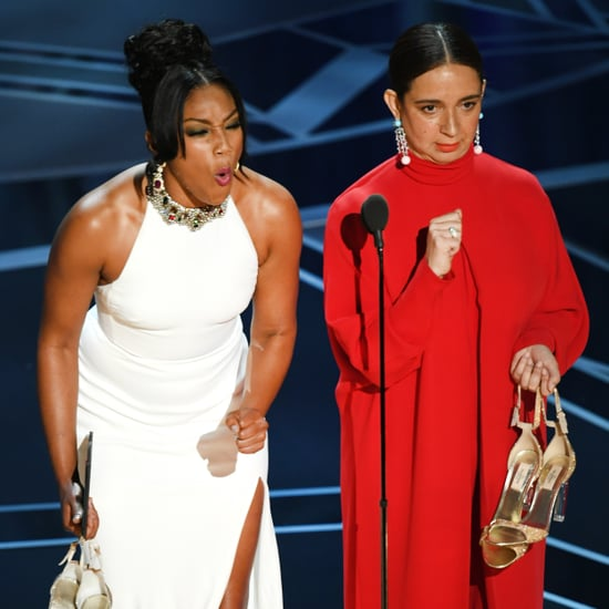 Tiffany Haddish and Maya Rudolph at the 2018 Oscars