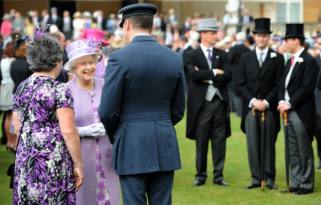 The queen met guests during her garden party ahead of her big Jubilee weekend.