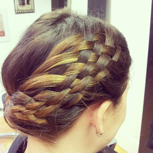 A multiple-strand braid made for an intricate hairstyle. Source: Instagram user blondiebray
