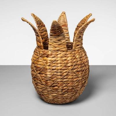 Pineapple Shaped Water Hyacinth Woven Basket