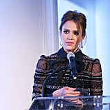 Jessica Alba spoke at the Self magazine Women Doing Good Awards in NYC.