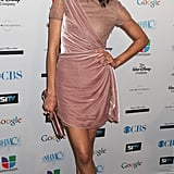 Zoe looked stunning in this Valentino dress while attending a red carpet event in February 2011.