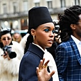 Janelle Monae's Blue Eye Shadow 2019