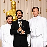Zach Galifianakis, Bret McKenzie, and Will Ferrell
