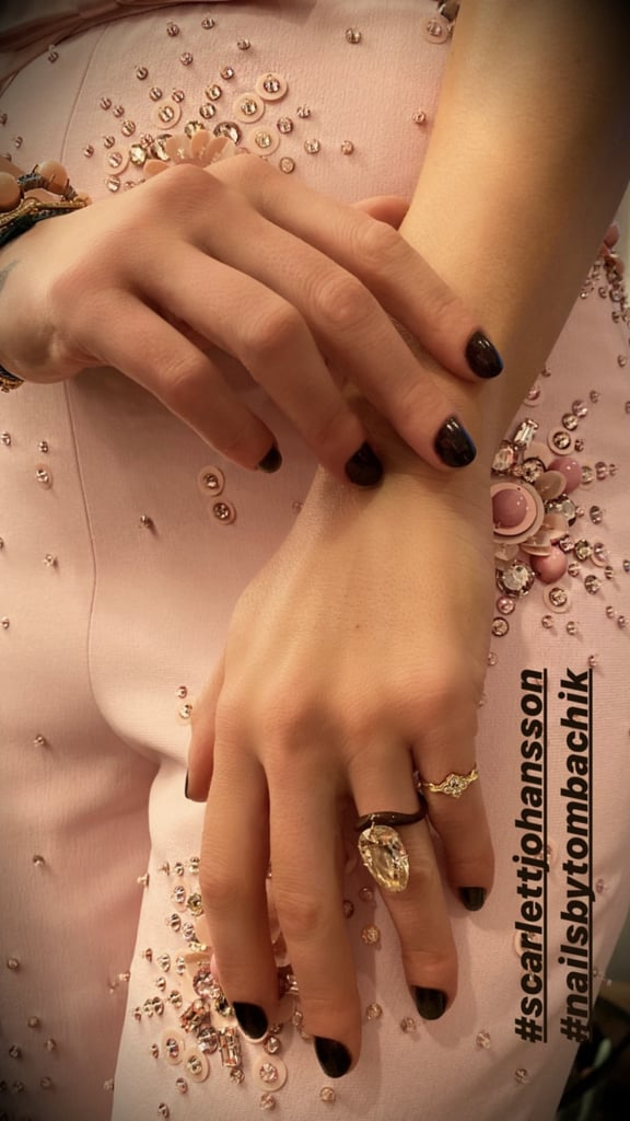 Scarlett Johansson Nail Polish Color at Jojo Rabbit Premiere