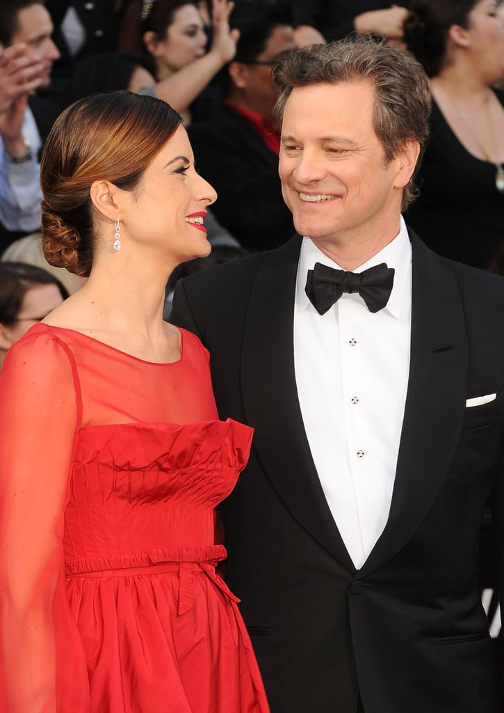 Colin Firth and Livia Giuggioli