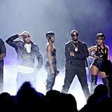 Pictured: Rick Ross, T.I., Kaleena, Diddy, Dawn Richard, and Nicki Minaj