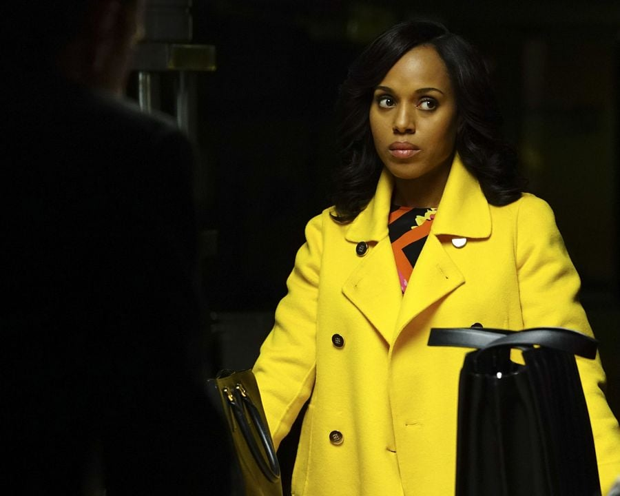 . . . And then, not so much — in a bold yellow peacoat.