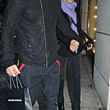 Jennifer Aniston and Justin Theroux step out in NYC.