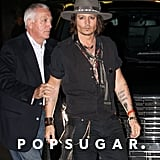Johnny Depp attended Aerosmith's afterparty in LA.