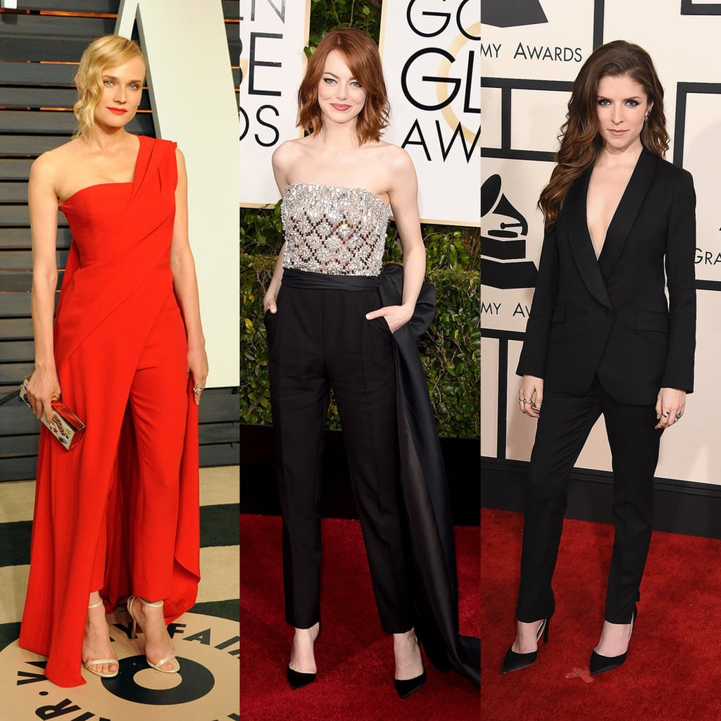 Stars Wearing Pants on the Red Carpet Award Season 2015